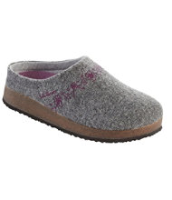 Women's L.L.Bean Wool Slipper Clog, Embroided