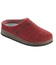 Women's L.L.Bean Wool Slipper Clog, Embroidered