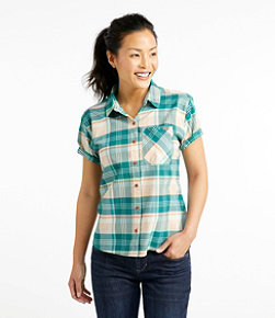 Beach Cruiser Summer Shirt, Short-Sleeve Plaid