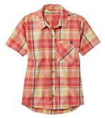 Women's Beach Cruiser Summer Shirt, Short-Sleeve Plaid