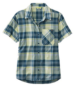 Women's Beach Cruiser Summer Shirt, Short-Sleeve Plaid