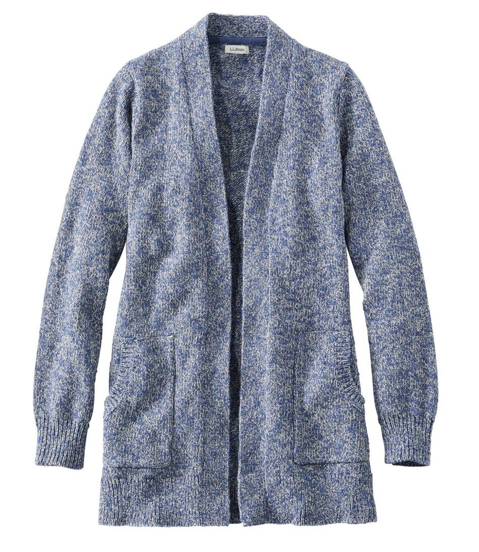 Women's Cotton Ragg Sweater, Open Cardigan