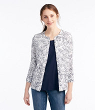 Supima-Blend Essential Cardigan, Floral