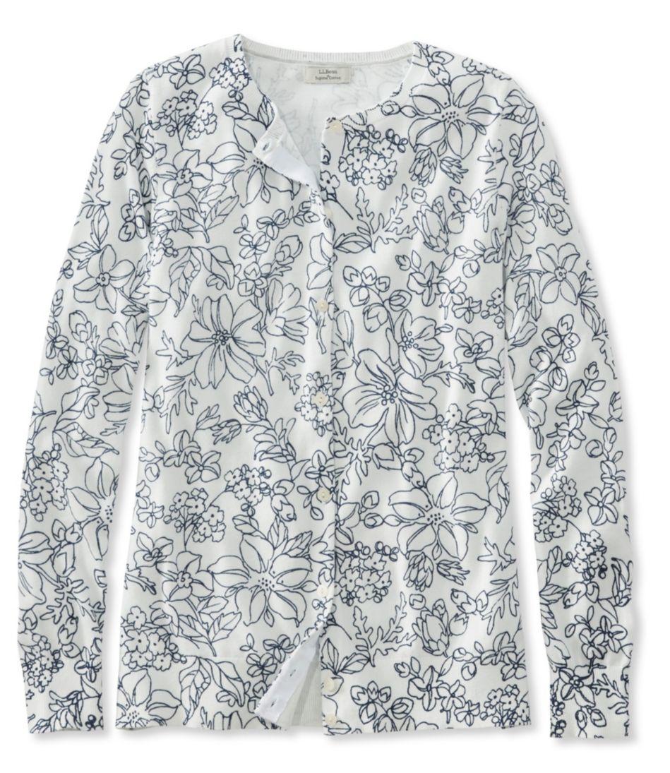Supima Essential Cardigan, Floral