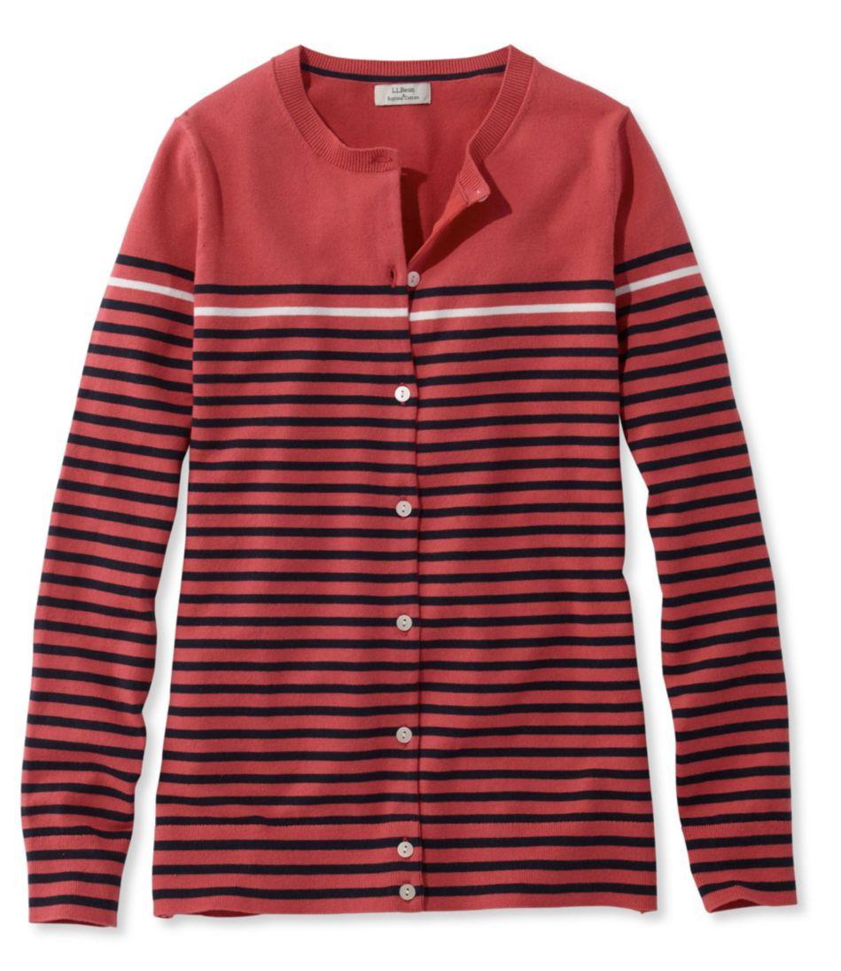 Supima Essential Cardigan, Stripe