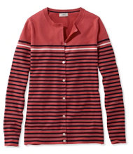 Supima Essential Cardigan, Stripe