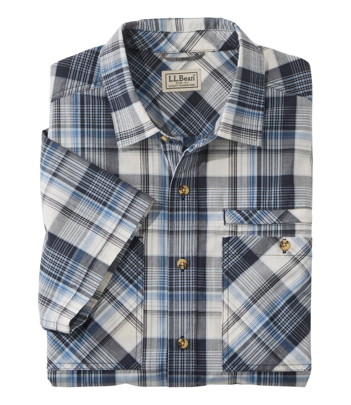 Men's Otter Cliff Shirt, Short-Sleeve Plaid