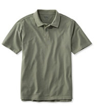 Lakewashed Pique Polo, Short-Sleeve Slightly Fitted