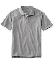 Men's Lakewashed Pique Polo, Short-Sleeve Slightly Fitted