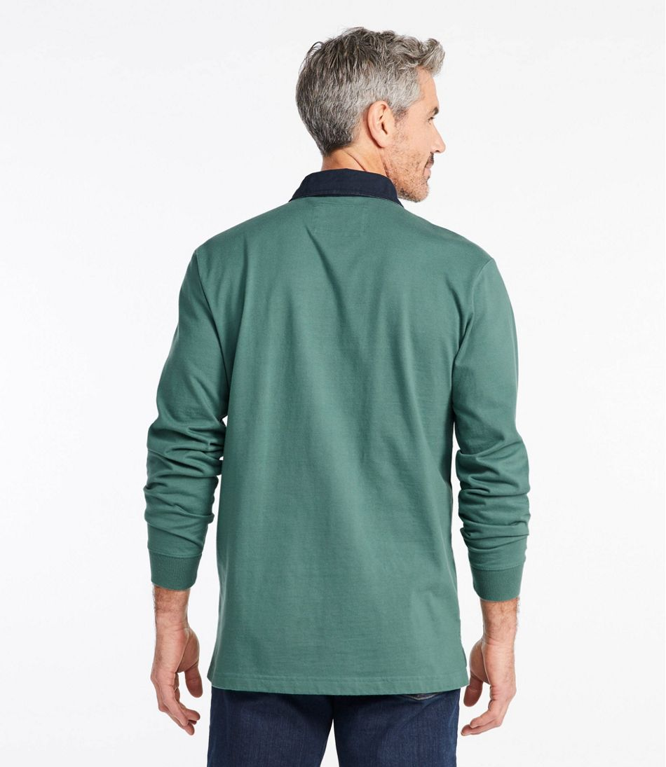 Men's Lakewashed® Rugby, Traditional Fit Long-Sleeve Solid