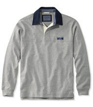 Men's Lakewashed Rugby, Traditional Fit Long-Sleeve Solid