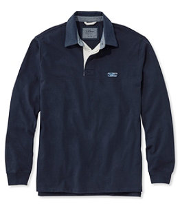 Men's Lakewashed Rugby, Traditional Fit Long-Sleeve