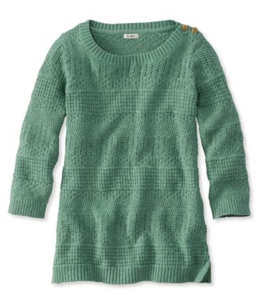 Pointelle Mixed-Stitch Pullover