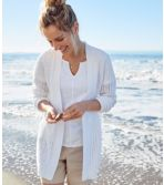 Women's Pointelle Mixed-Stitch Open Cardigan
