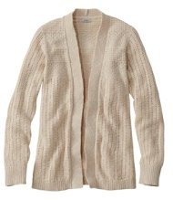 Pointelle Mixed-Stitch Open Cardigan