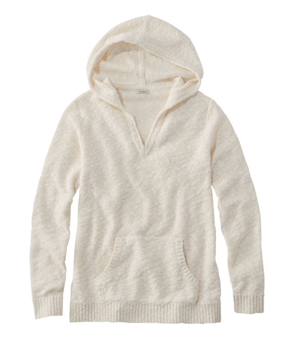 Womens Midweight Cotton Slub Hooded Pullover