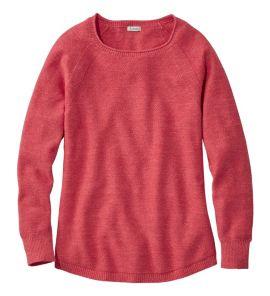 L.L.Bean Long-Sleeve Women's Textured Cotton Sweater
