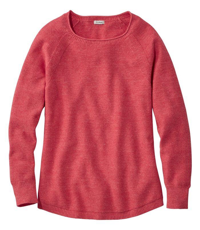 L.L Bean: Women's Textured Cotton Sweater, Long-Sleeve $17.99 (Save 70%)