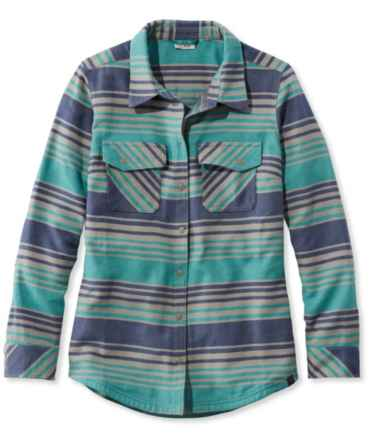 Women's Rangeley Camp Performance Flannel Shirt, Stripe