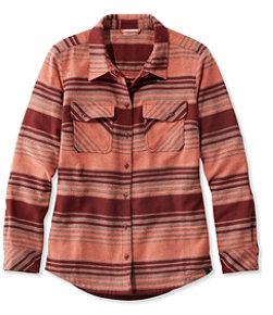 Rangeley Camp Performance Flannel Shirt, Stripe