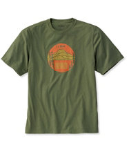 Lakewashed Garment-Dyed Cotton Crewneck Graphic Tee, Slightly Fitted Short-Sleeve Onward Mountain