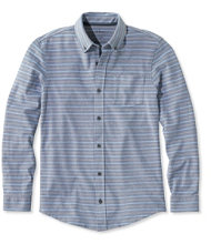 L.L.Bean Performance Pique-Knit Shirt, Long-Sleeve Slightly Fitted Stripe