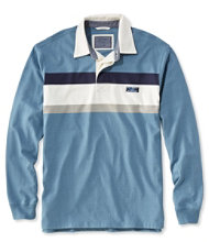 Men's Lakewashed Rugby, Traditional Fit Long-Sleeve Chest Stripe