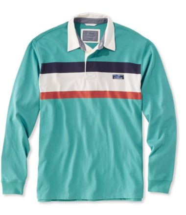 Lakewashed Rugby, Traditional Fit Long-Sleeve Chest Stripe