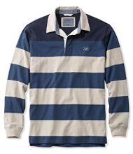 Lakewashed Rugby, Traditional Fit Long-Sleeve Engineered Shoulder Stripe
