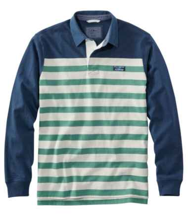 Lakewashed® Rugby, Traditional Fit Long-Sleeve Engineered Shoulder Stripe