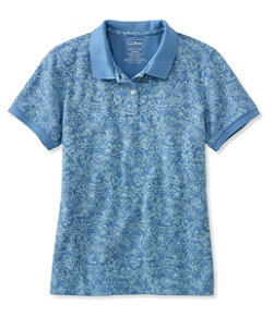 Women's Premium Double L Polo, Slightly Fitted Floral