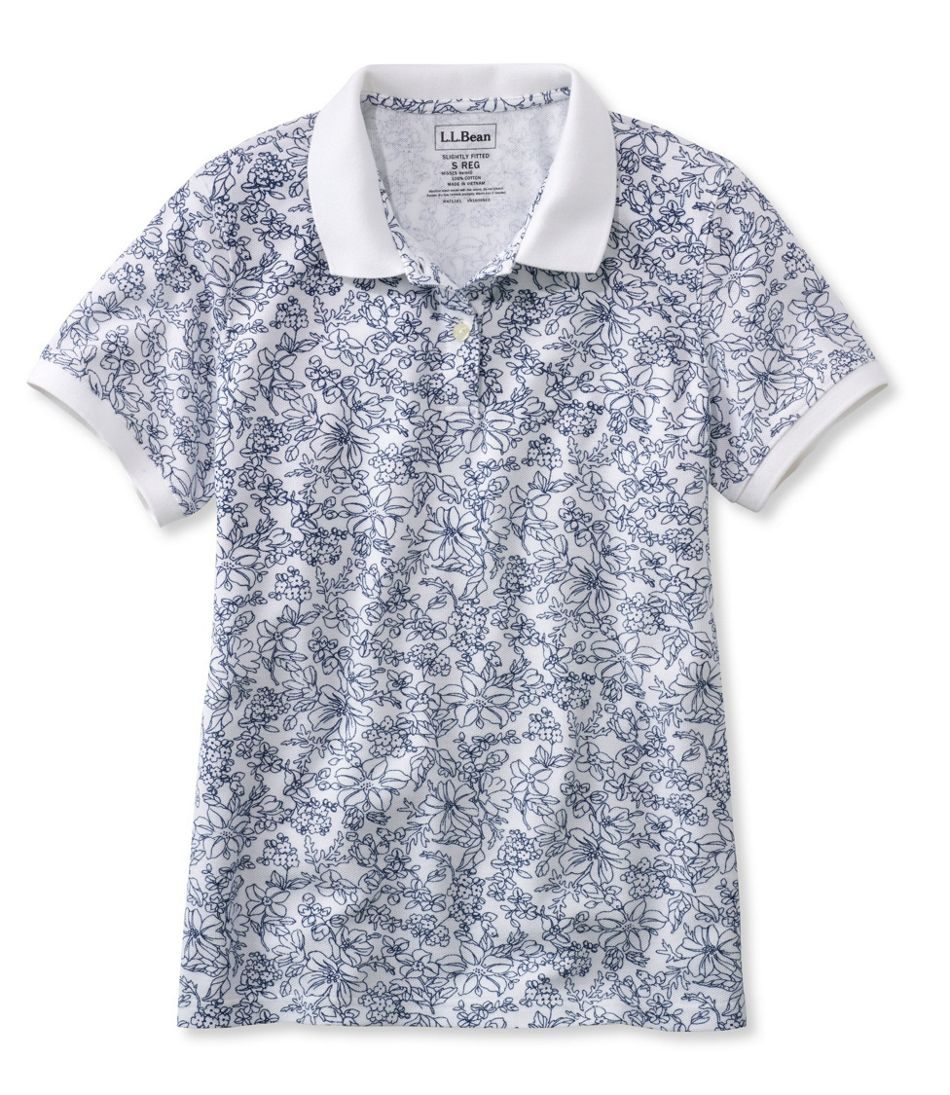 Premium Double L Polo, Slightly Fitted Floral