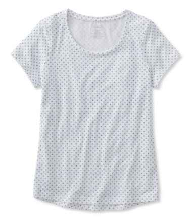 Super-Soft Shrink-Free Tee, Short-Sleeve Crewneck Dot