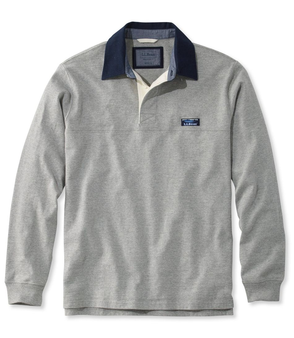 Lakewashed® Rugby, Traditional Fit Long-Sleeve Solid