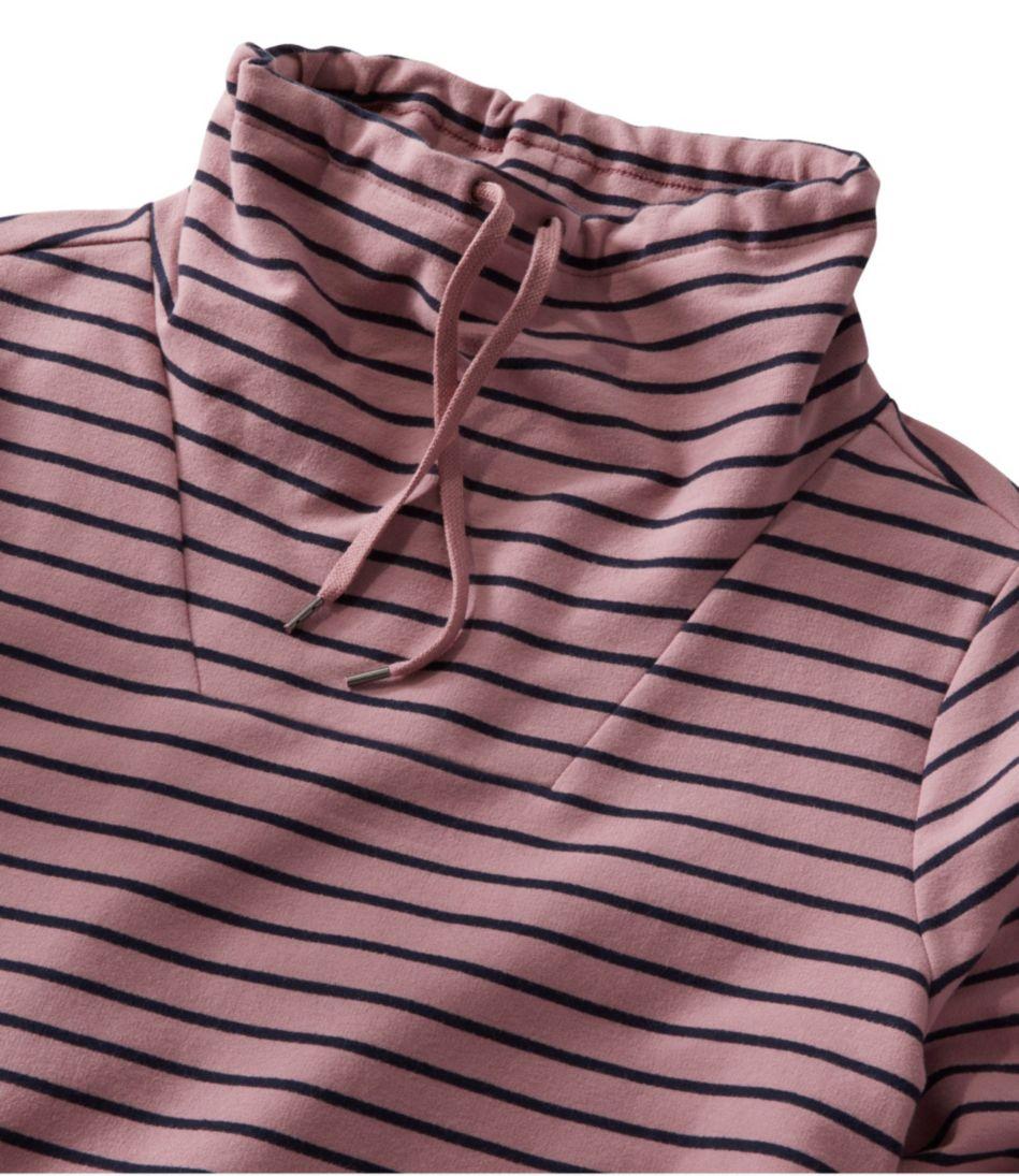 Ultrasoft Sweats Funnelneck Pullover, Stripe