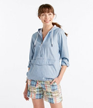 Vacationland Anorak Pullover, Chambray Long-Sleeve