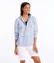 Vacationland Anorak Pullover, Seersucker Long-Sleeve