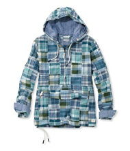 Women's Vacationland Anorak Pullover, Patchwork Long-Sleeve