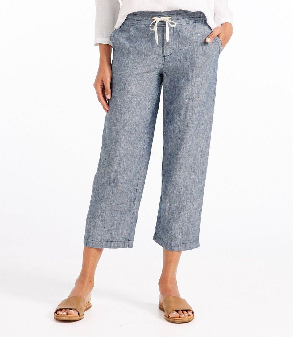 Premium Washable Linen Cropped Pants