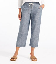 Premium Washable Linen Cropped Pants