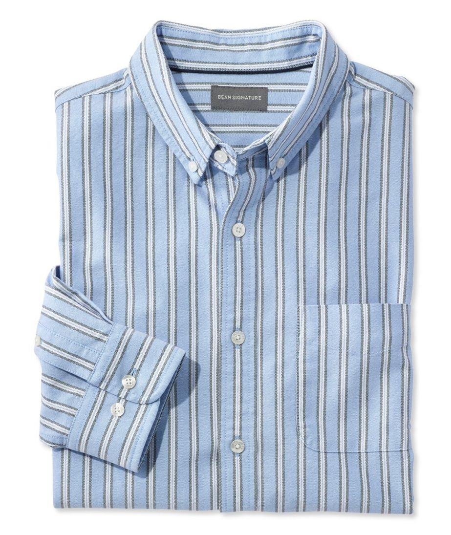 Signature Washed Oxford Cloth Shirt, Stripe