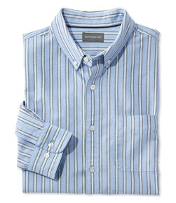 Men's Signature Washed Oxford Cloth Shirt, Stripe