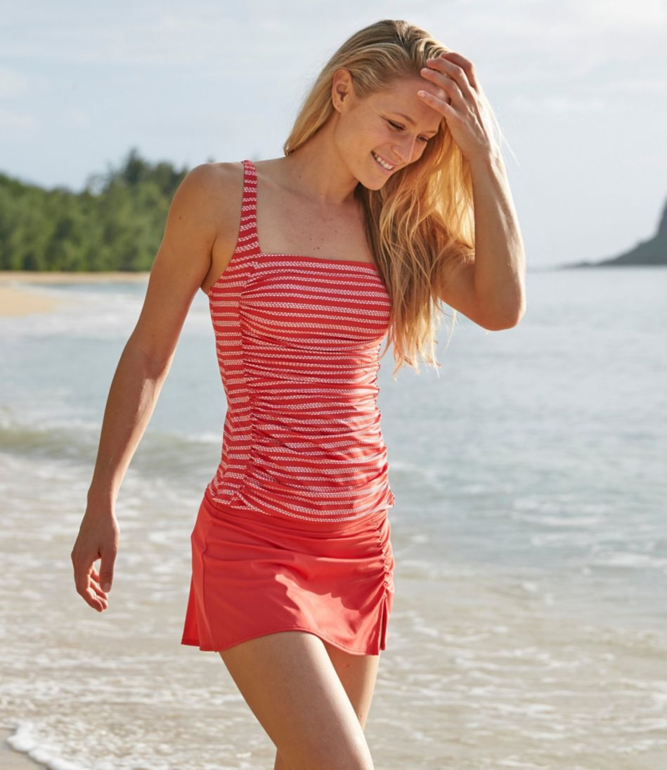L.L.Bean Mix-and-Match Swimwear, Squareneck Tankini Print