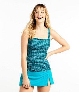 Women's L.L.Bean Mix-and-Match Swimwear, Squareneck Tankini Print