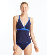 Women's ReNew Swimwear, V-Neck Tankini Colorblock