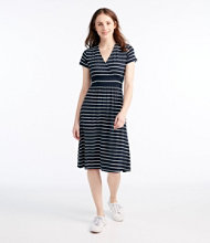 Summer Knit Dress, Short-Sleeve Stripe