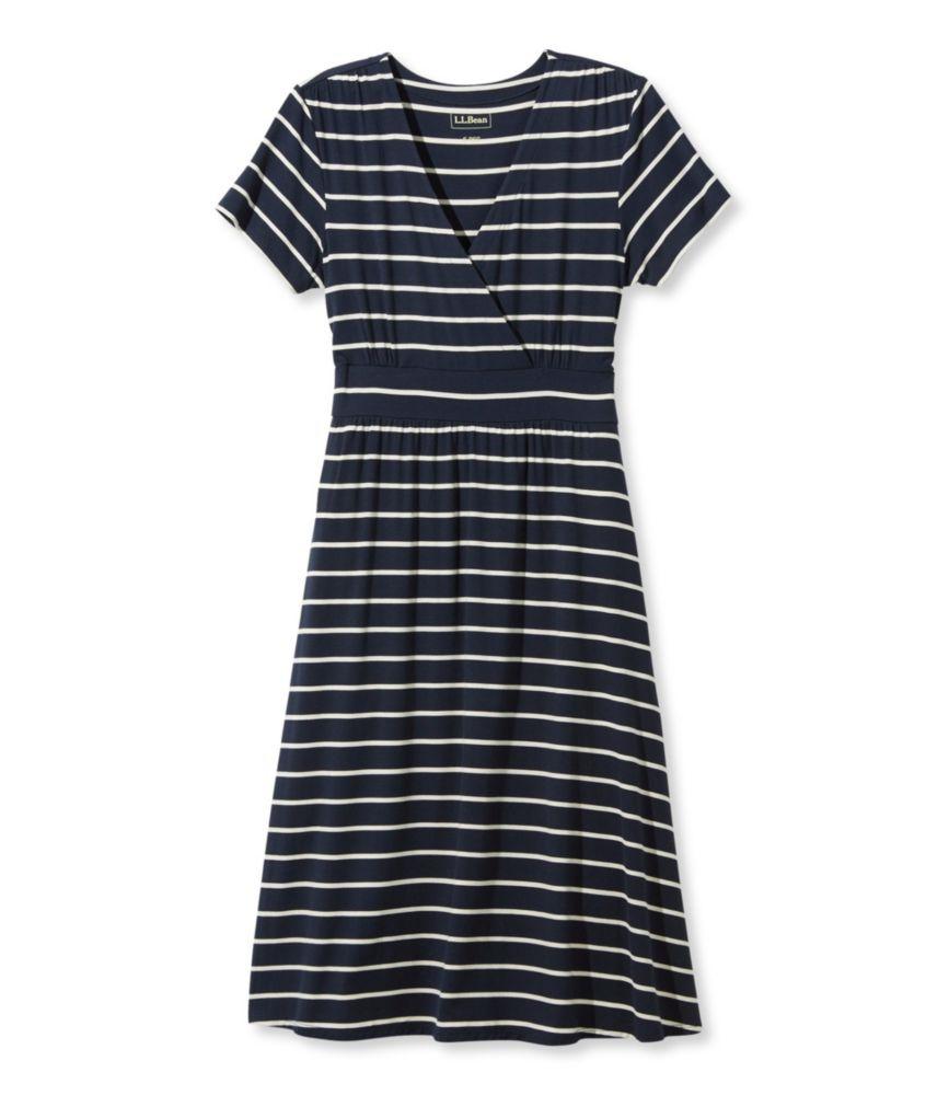 Women's Summer Knit Dress, Short-Sleeve Stripe