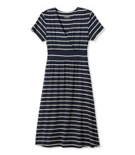 Women's Summer Knit Dress, Short-Sleeve Stripe