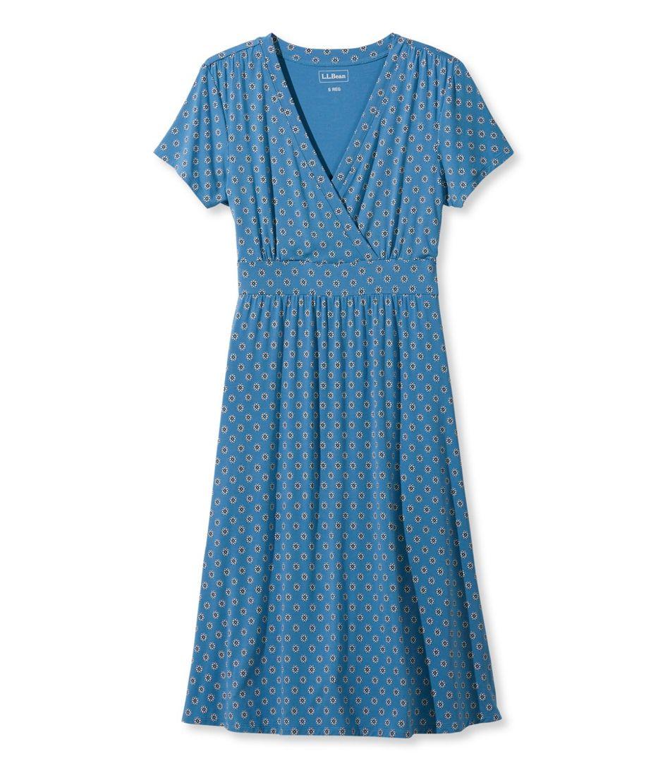 Summer Knit Dress, Short-Sleeve Geo Print