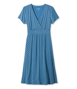 Summer Knit Dress, Short-Sleeve Geo Print